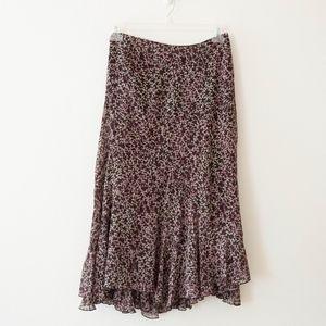 Anne Klein Swingy Flowy Midi Skirt Size 8